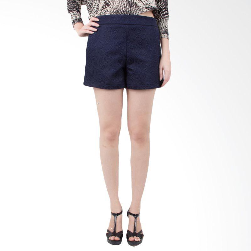 Blaize Highwaist Embellished Navy Shorts