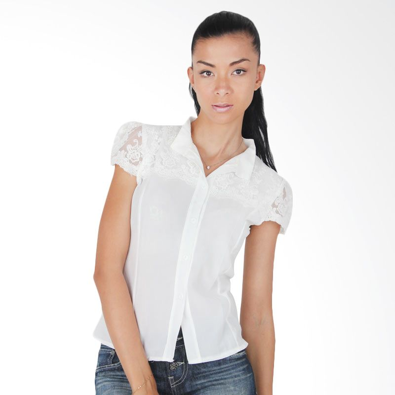 Blaize Short Sleeves Lacy Shirt