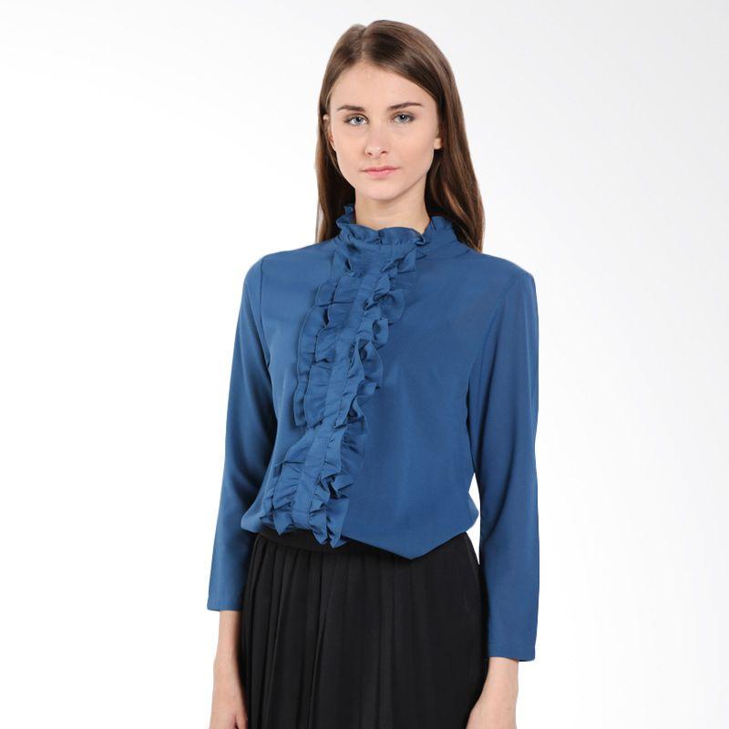 Blanik Dhoroty Long Sleeve 17160 Midnight Blue Blouse [Free Size]