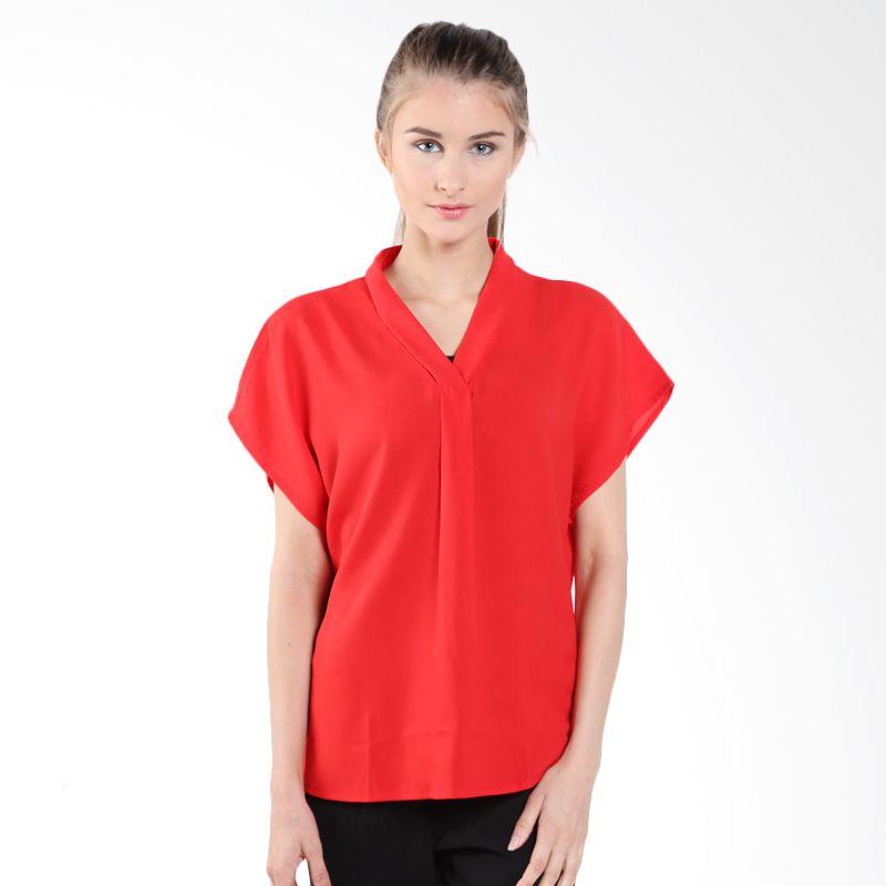 Blanik Erica Short Sleeve 85574R Red Blouse