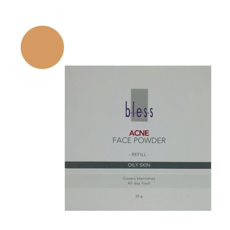 Bless Refill Pack Acne Face Powder Beige
