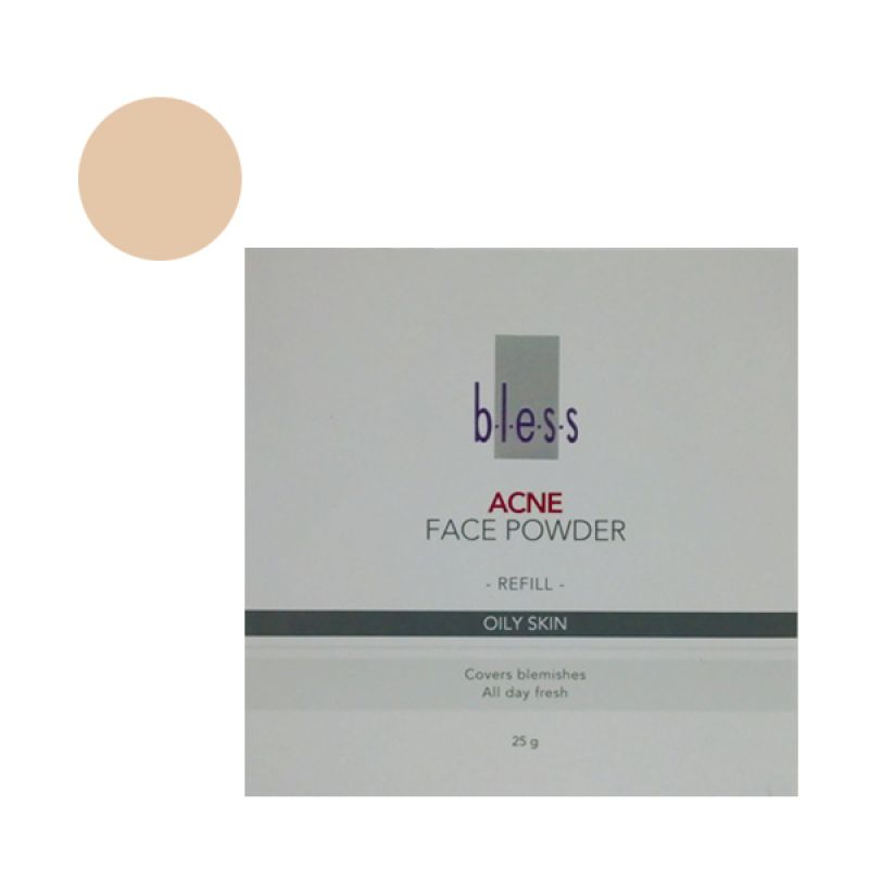 Bless Refill Pack Acne Face Powder Ivory
