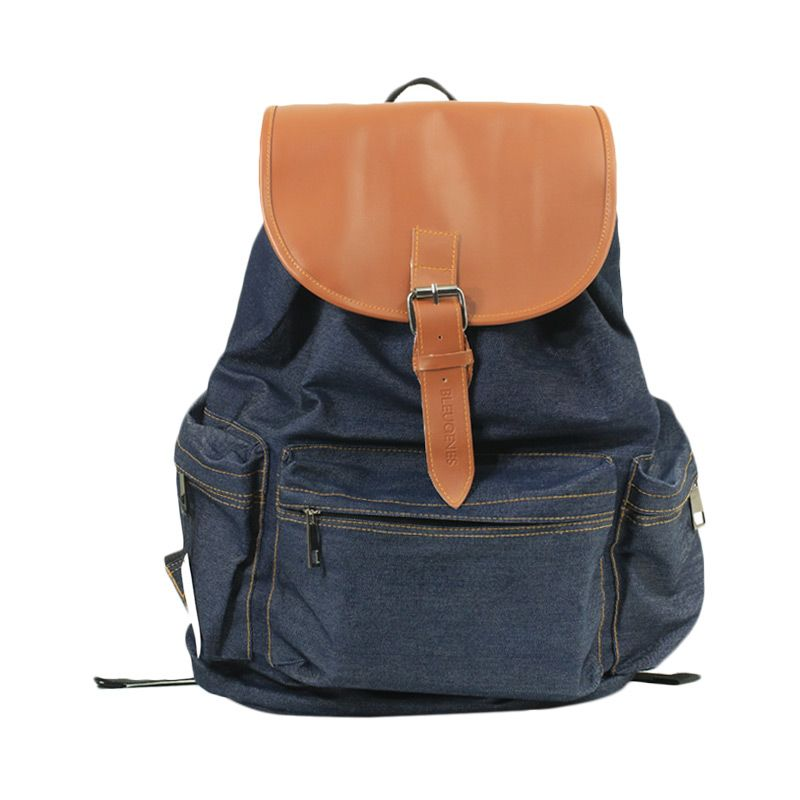 Bleugenes Bromo Denim Blue Backpack Tas Ransel
