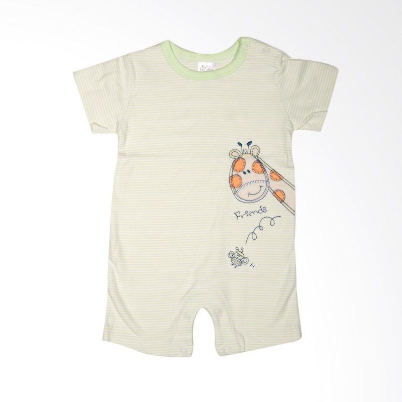 Baby Essentials Giraffe with Bib Green Jumpsuit Bayi