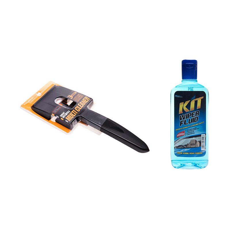 PROMO 3 Way Multi Cleaner Alat Pembersih Kaca [Buy 1 Get 1 FREE KIT Wiper Fluid]