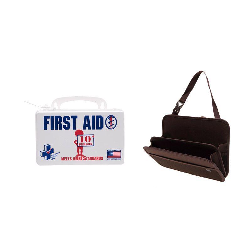 PROMO ANSI First AID Poly White Kotak P3K [Buy 1 Get 1 FREE Car Seat Back Storage Bag]
