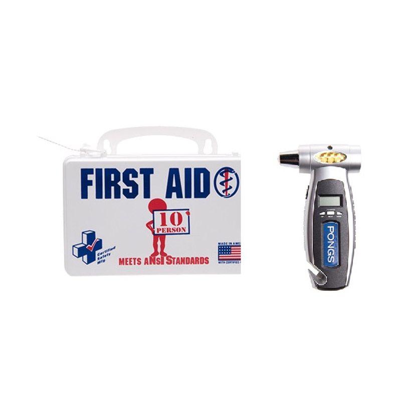 PROMO ANSI First AID Poly White Kotak P3K [Buy 1 Get 1 FREE Tire Gauge]