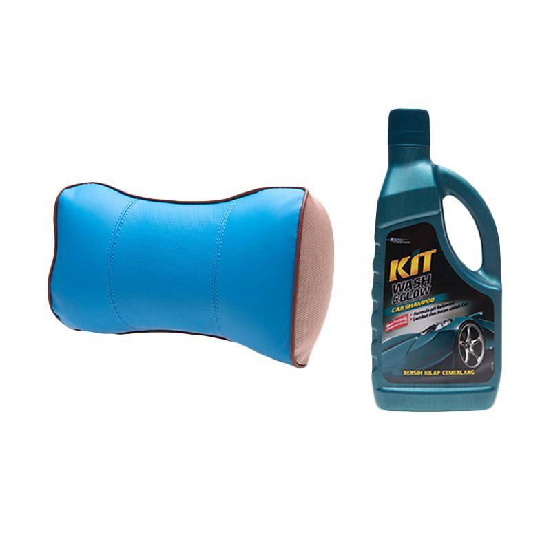 PROMO Bonform Candy Lady Blue Pillow [Buy 1 Get 1 FREE KIT Wash & Glow Bottle 900 mL]
