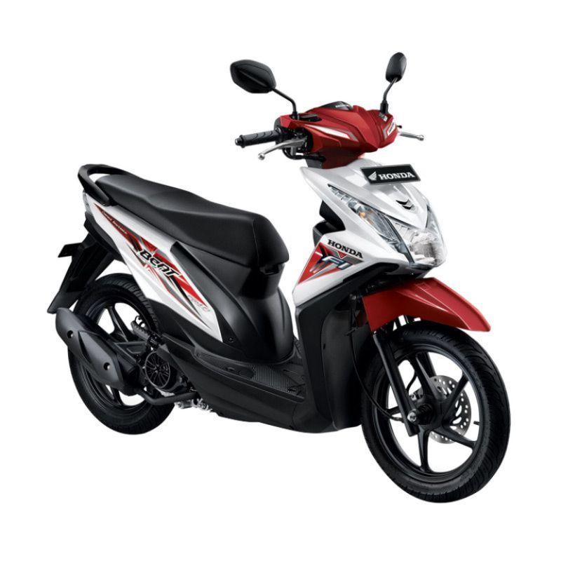 Honda All New BeAT eSP CBS ISS Techno White Sepeda Motor [DP 4.500.000]