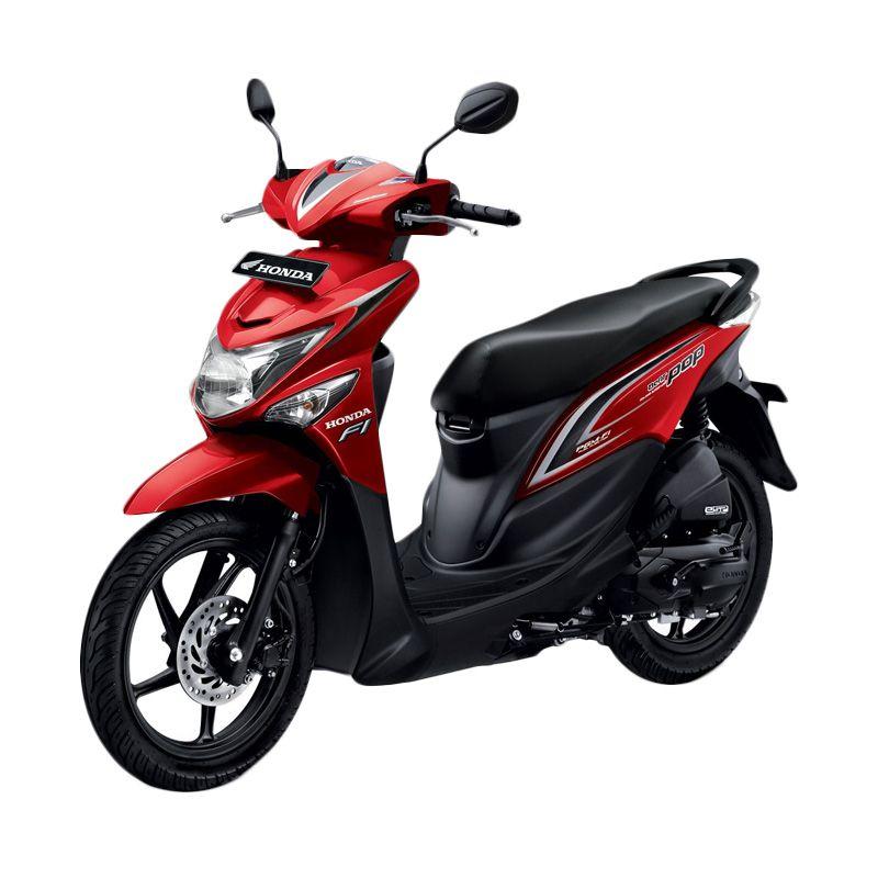 Honda All New BeAT POP eSP CBS ISS Groovy Red Sepeda Motor [DP 4.500.000]