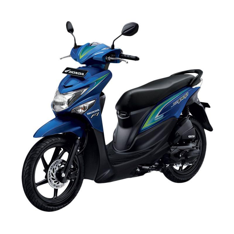 Honda All New BeAT POP eSP CBS ISS Melody Blue Sepeda Motor [DP 4.500.000]