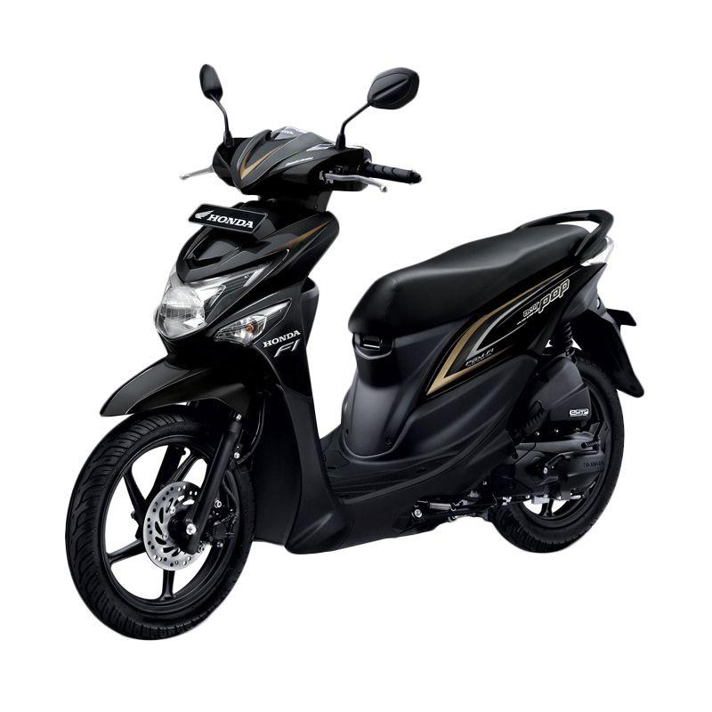 Honda All New BeAT POP eSP CBS Tone Black Sepeda Motor [DP 4.000.000]