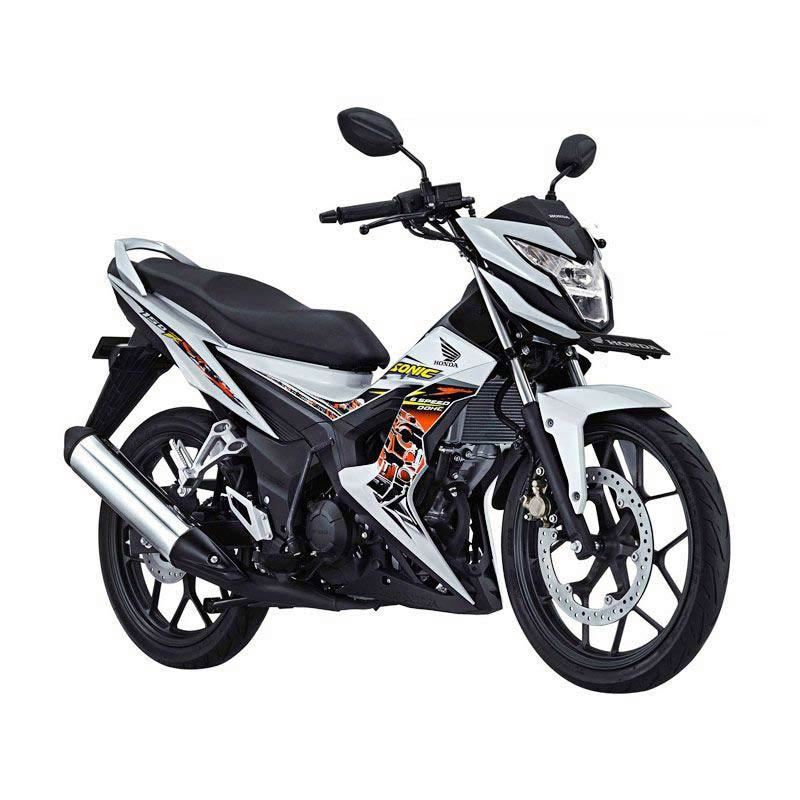 Honda New Sonic 150R Active White Sepeda Motor