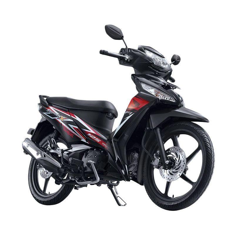 Honda New Supra X 125 FI CW Stylish Black Sepeda Motor