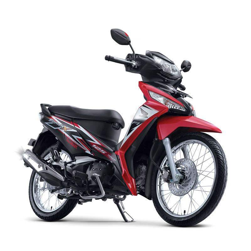 Honda New Supra X 125 FI SW Graceful Red Sepeda Motor [DP 4.500.000]