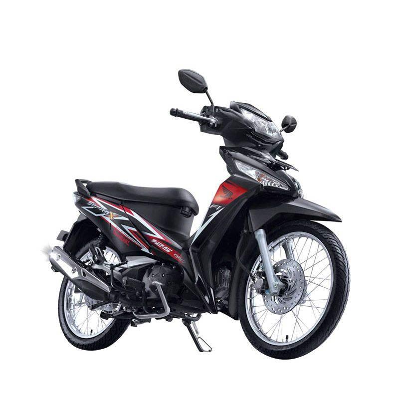 Honda New Supra X 125 FI SW Stylish Black Sepeda Motor [DP 4.000.000]