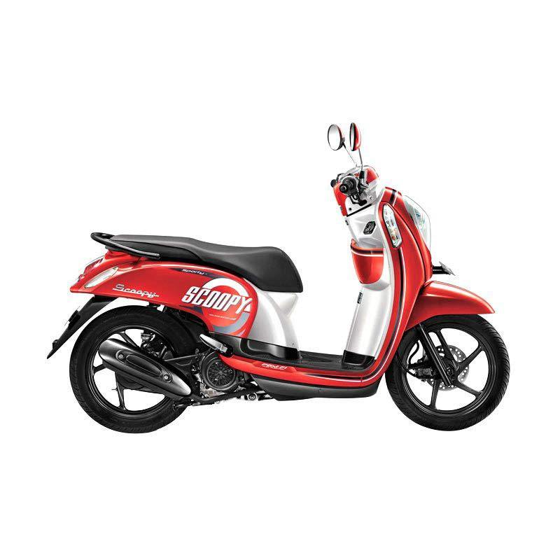 Honda Scoopy FI Sporty Estate Red Sepeda Motor [DP 3.000.000]