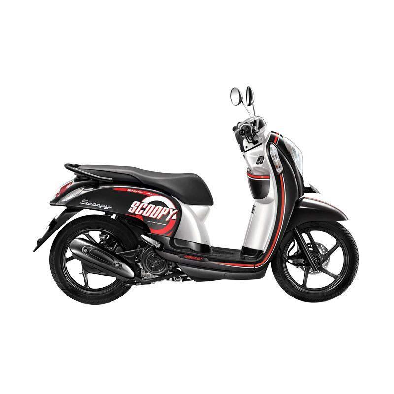 Honda Scoopy FI Sporty Metro Black Sepeda Motor [DP 3.500.000]
