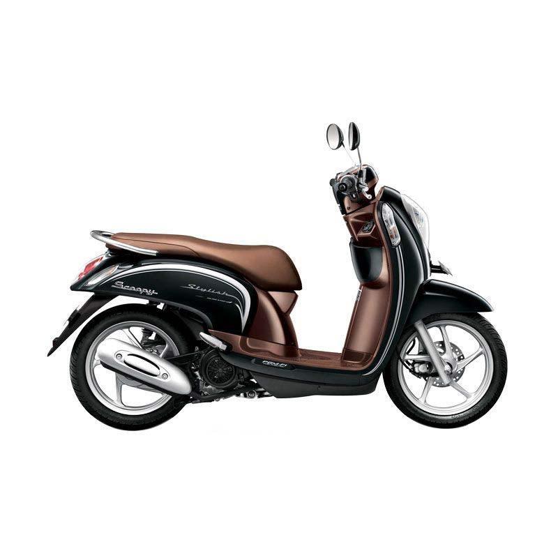 Honda Scoopy FI Stylish Fancy Black Sepeda Motor [DP 2.500.000]