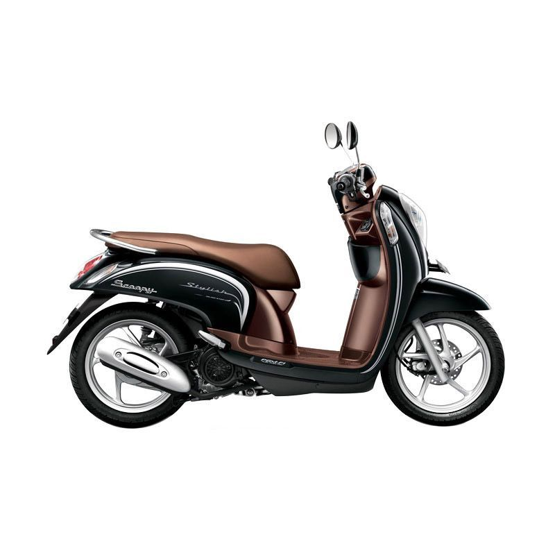 Honda Scoopy FI Stylish Fancy Black Sepeda Motor [DP 3.000.000]