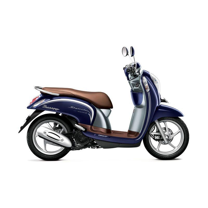 Honda Scoopy FI Stylish Uptown Blue Sepeda Motor [DP 3.000.000]