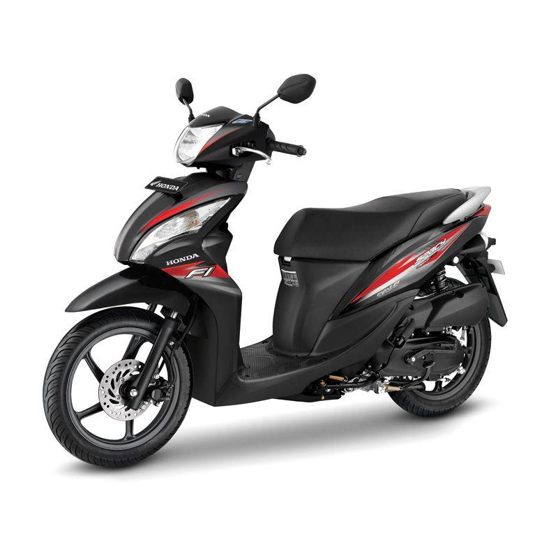 Honda Spacy Helm in PGM-FI Emperor Black Sepeda Motor