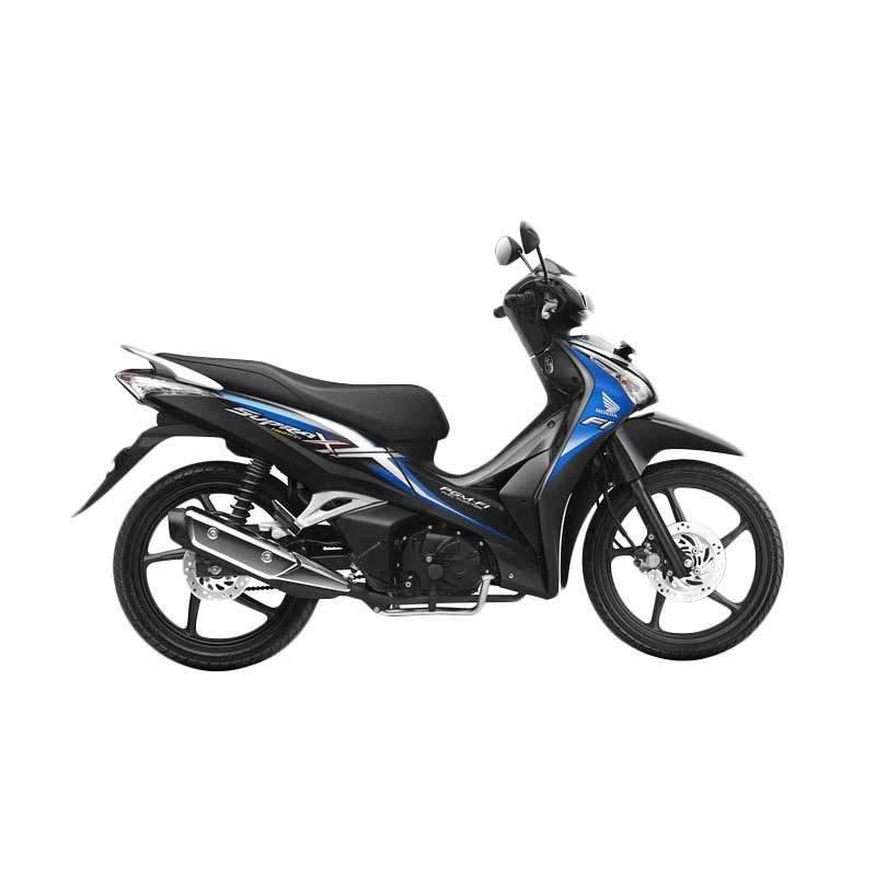 Honda Supra X 125 Helm in PGM-FI Glorious Blue Sepeda Motor [DP 3.000.000]