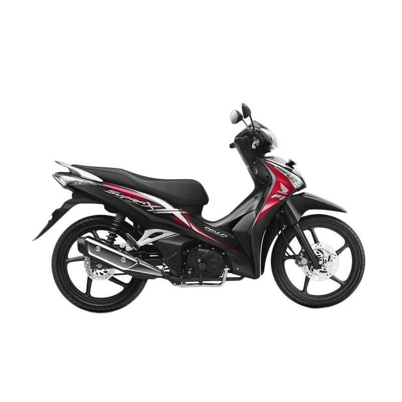 Honda Supra X 125 Helm in PGM-FI Superior Red Sepeda Motor [DP 4.000.000]