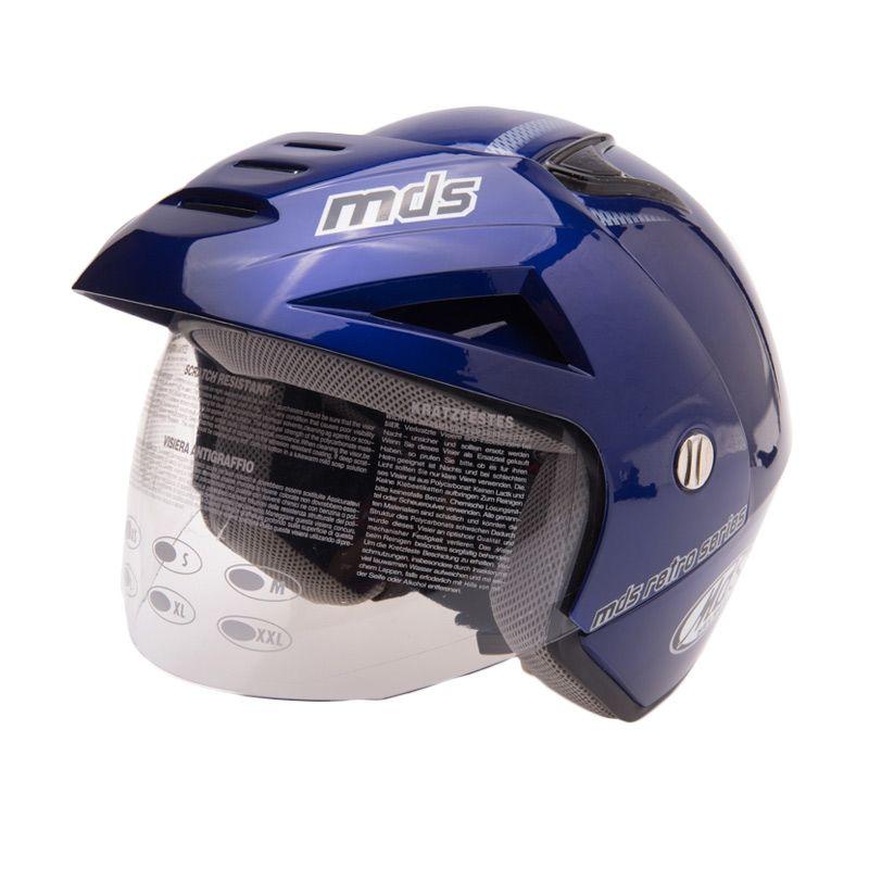 MDS Retro Blue Helm Half Face