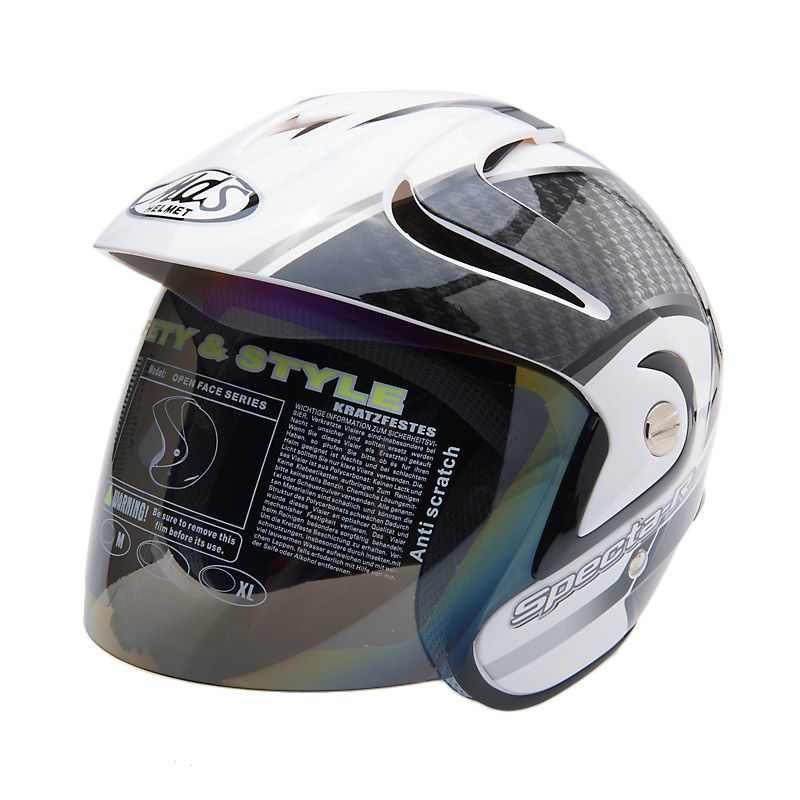 MDS Specta R 5 Metallic Silver Clear Helm Half Face