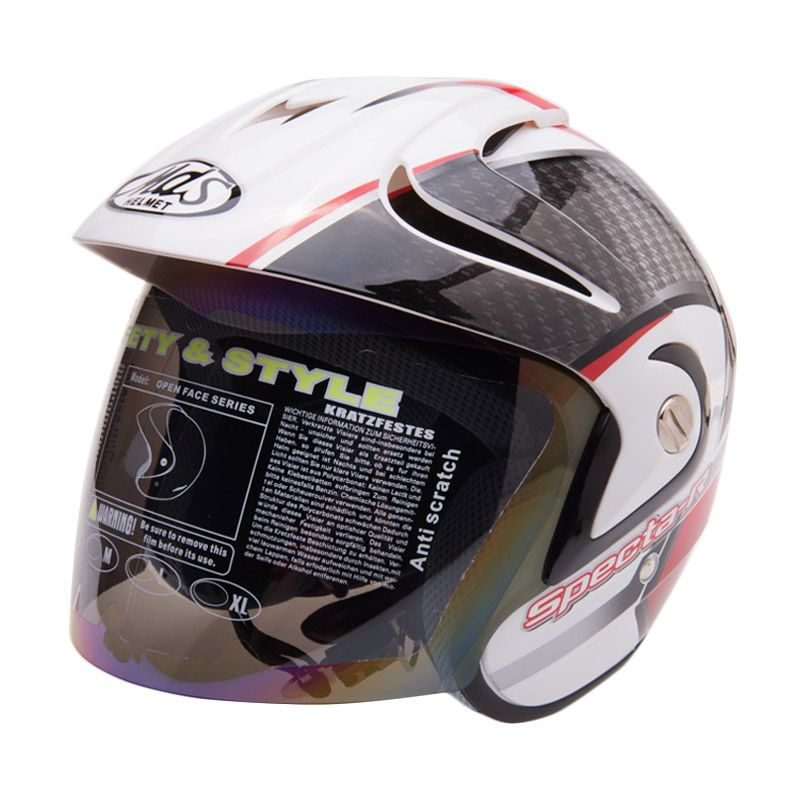 MDS Specta R 5 White Red Black Helm Half Face