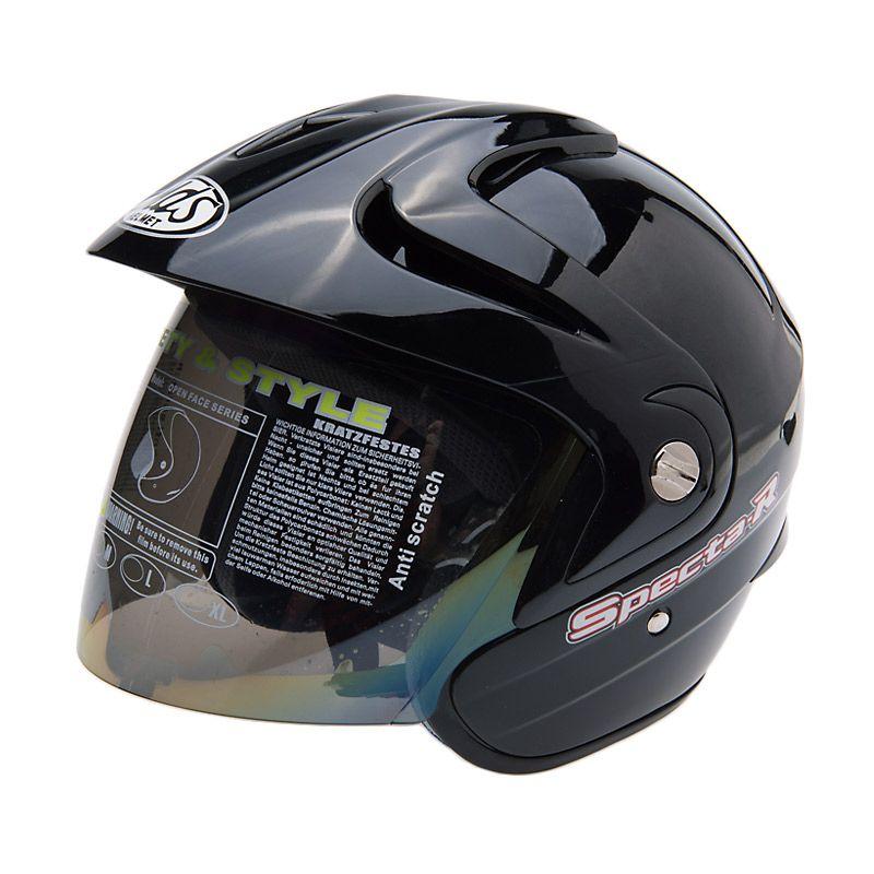 MDS Specta R Solid Black Helm Half Face
