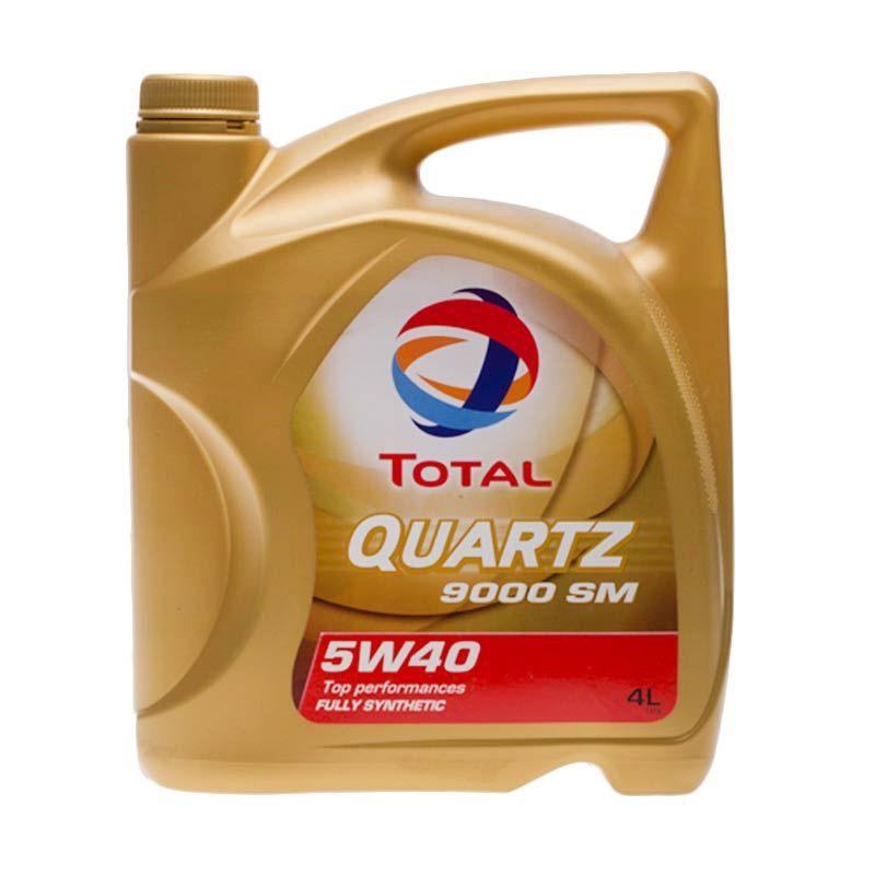 PROMO Paket Hemat - Total 9000 Fully Synthetic SAE 5W/ 40 Oli Pelumas [4 Liter]