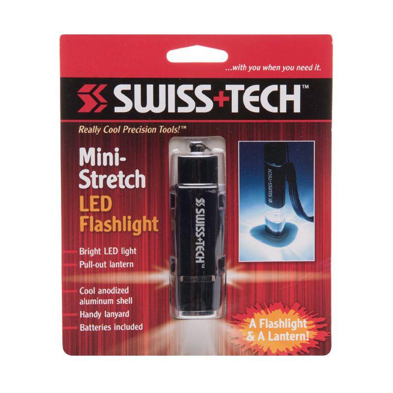 Swiss Tech Mini Strech LED Flashlight Black Senter