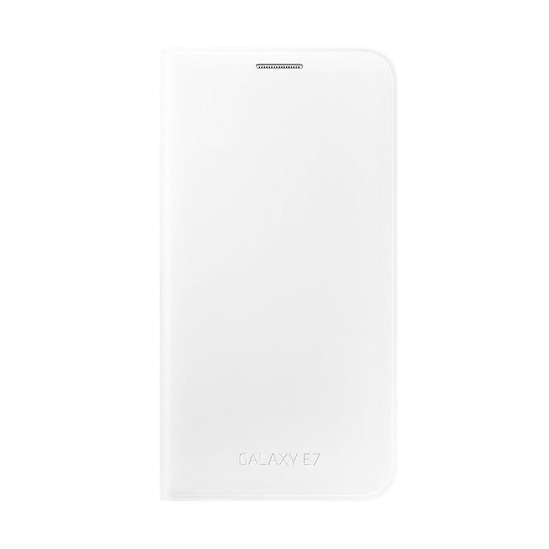 Samsung Wallet White Flip Cover Casing for Galaxy E7