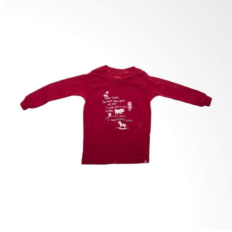 GAP Baby Dear Santa BO 270 Red Atasan Anak Perempuan