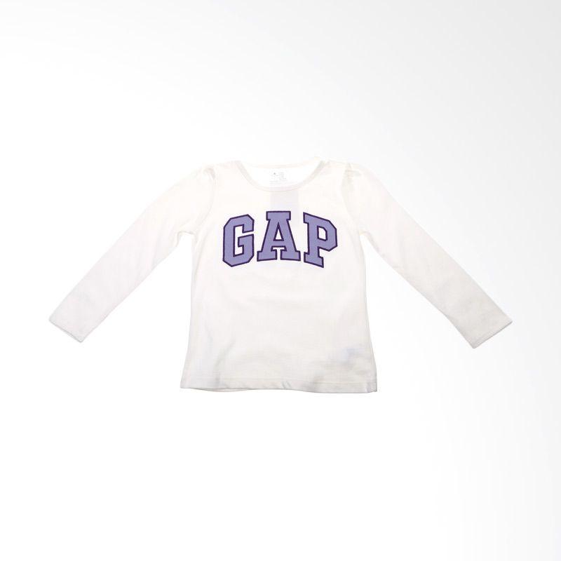 GAP Baby White Purple Atasan Anak Perempuan