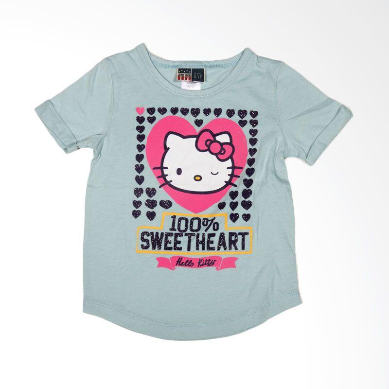 GAP Hello Kitty Sanrio Sweetheart Blue Atasan Anak Perempuan