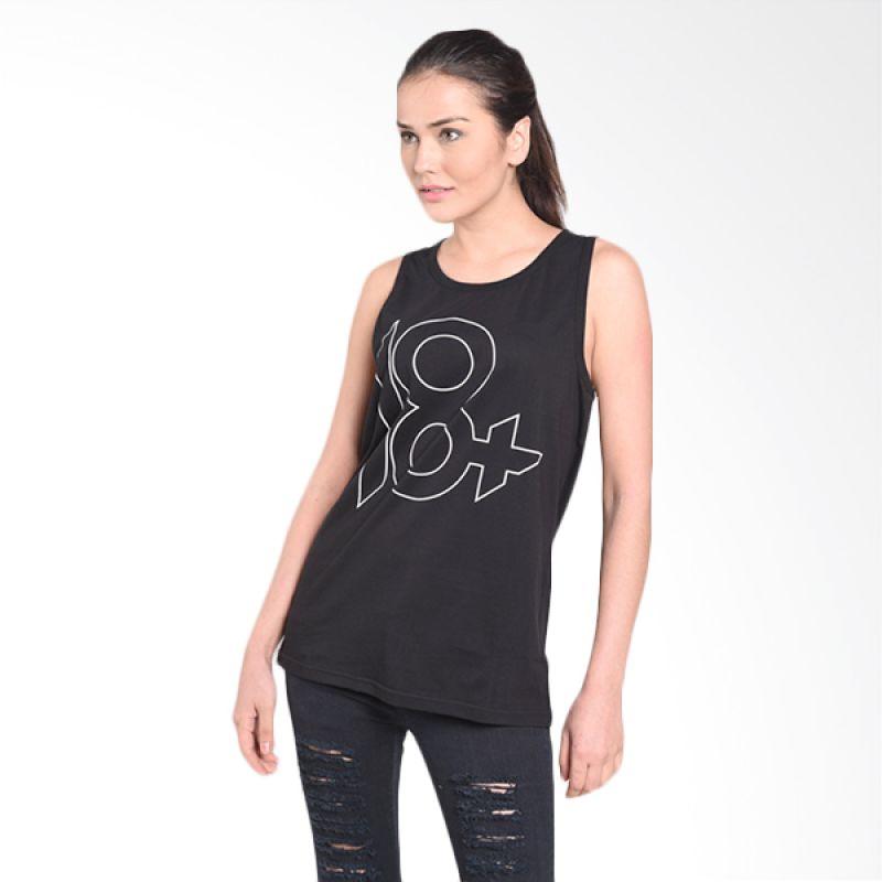 Musica Studios 18+ Kaos Tanpa Lengan Merchandise - Hitam
