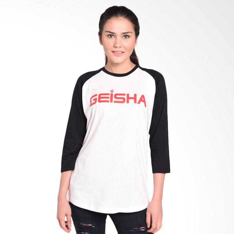 Musica Studios Geisha Kaos Raglan Black White Merchandise