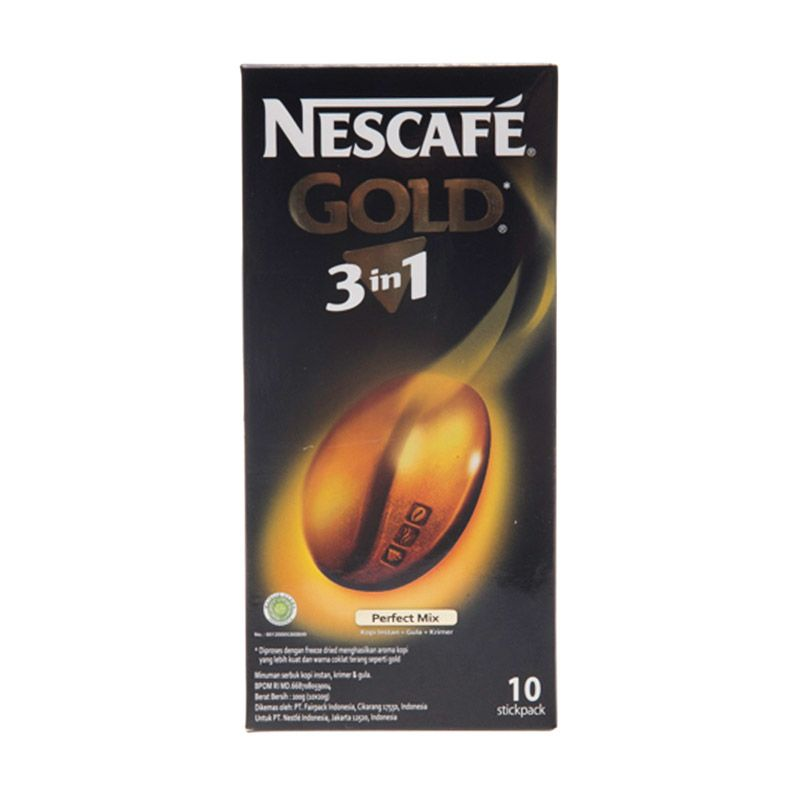 Nescafe Gold 3 in 1 Stickpack Kopi [10 Pcs]