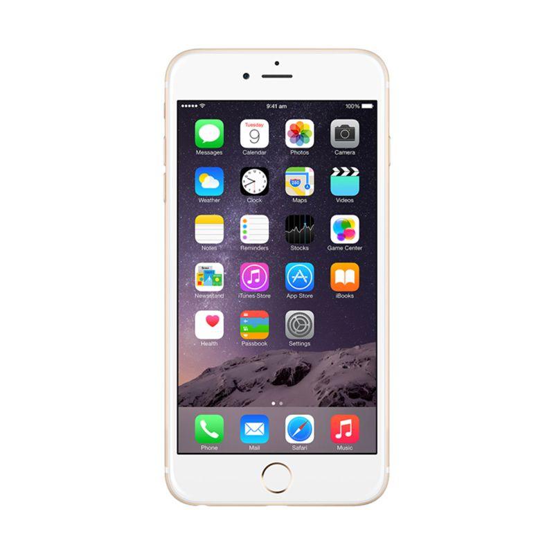 Apple iPhone 6 Plus 64 GB Gold Smartphone [Garansi Resmi]