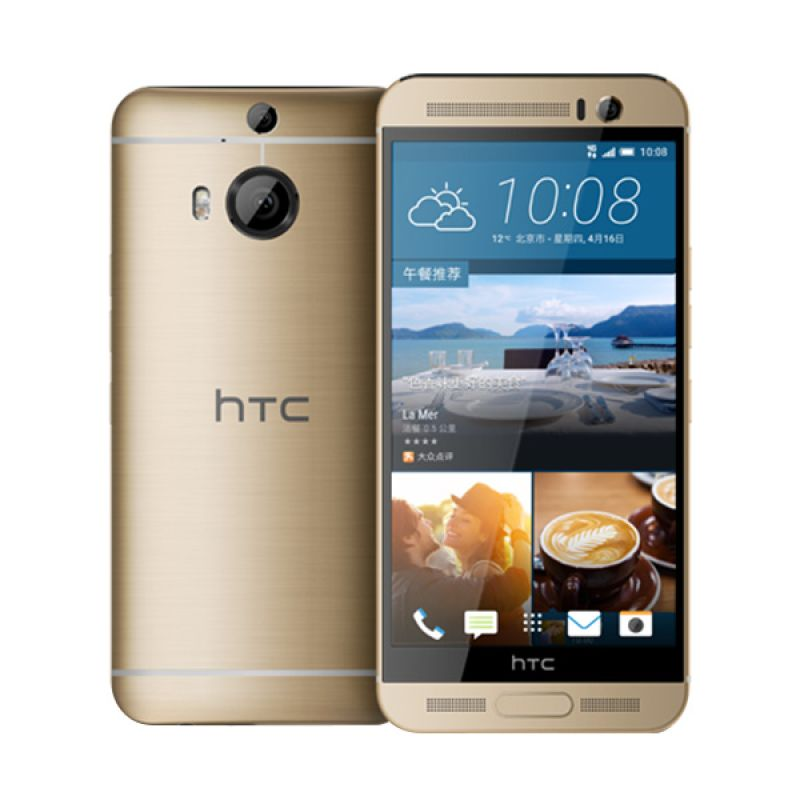 HTC One M9+ Gold on Gold Smartphone