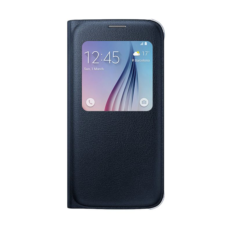 Samsung S View Blue Black Casing for Galaxy S6