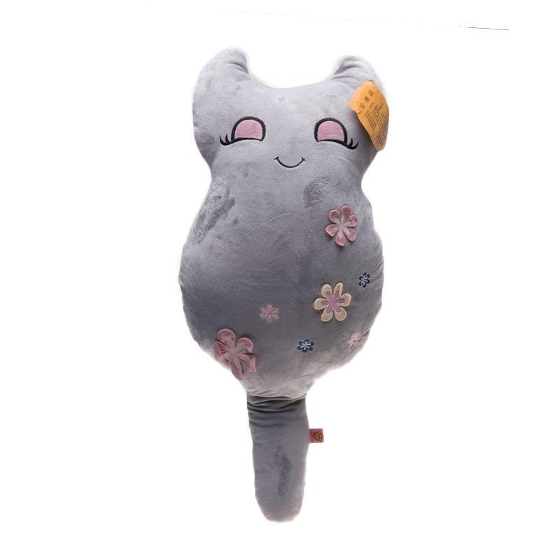 Jacq Cat Bunga Grey Bantal [40 cm]