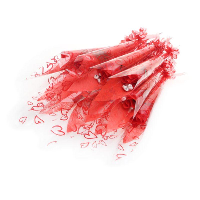 Jacq Red Flower Set [12 Pcs]