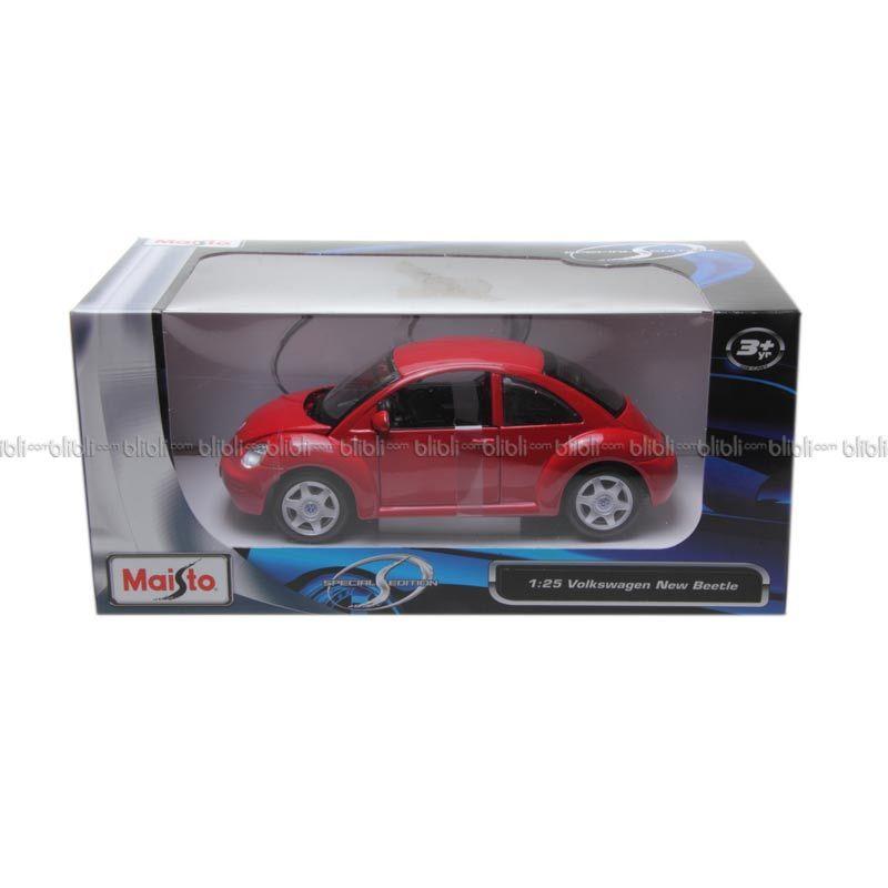 Diecast Maisto 125 Volkswagen New Beetle Red Special Edition