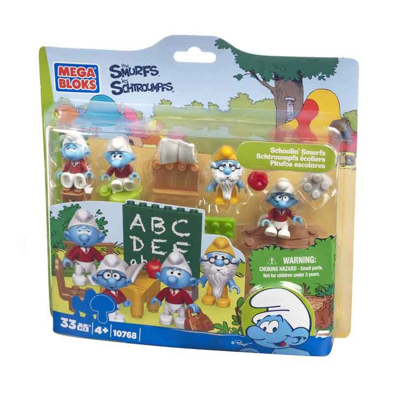 Mega Bloks Schooling Smurf - Mainan Anak