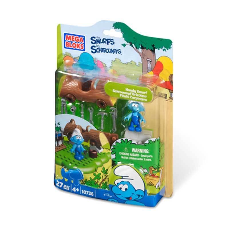 Mega Bloks Handy Smurf - Mainan Anak