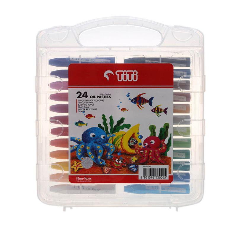 Titi Oil Pastel TI-P-24S Crayon [PP. Case]